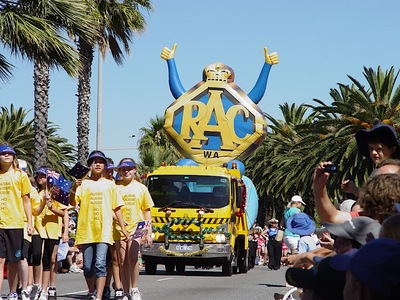 RAC WA Parade Inflatable Logo