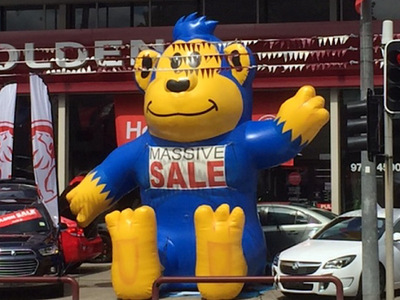 Car Yard Inflatable Monkey Hire and Rental