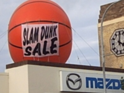 Giant Inflatable Basketball Promotion