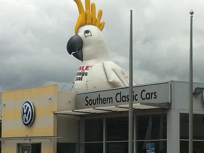 Giant Inflatable Cockatoo Rooftop Promotion