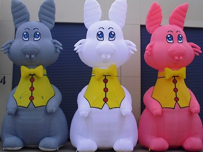 Inflatable Easter Bunny rental promotions