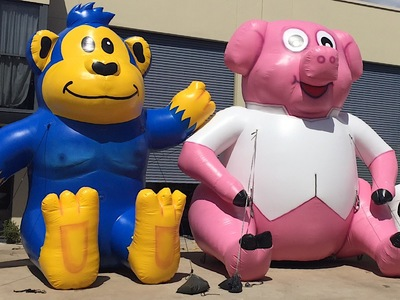 Inflatable Pink Pig Promotion Hire