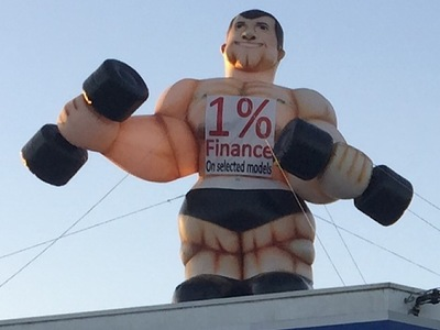 Rooftop Balloon Muscleman Inflatable
