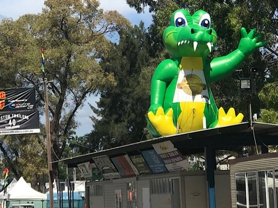 Rooftop Inflatable Crocodile promotion