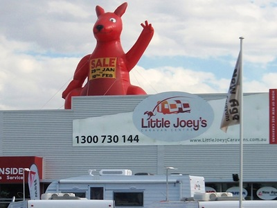 Rooftop Inflatable Kangaroo Sale Promotion