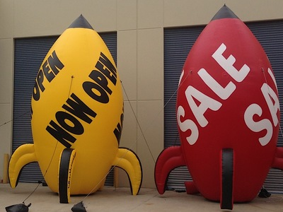 Rooftop Inflatable Promotional Rockets sale Caryards