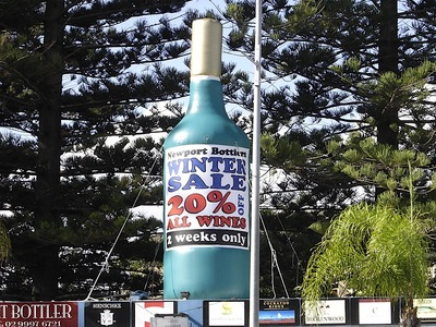 Rooftop Inflatable Wine Bottle promotion Sydney
