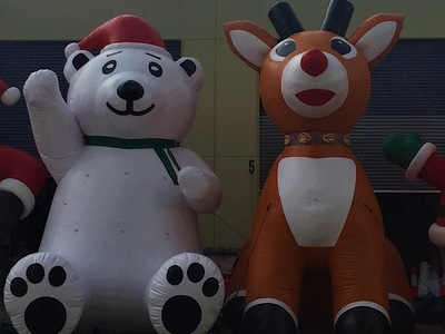 Inflatable Christmas Bear and Reindeer Giant Promotion