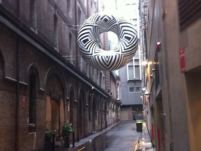Brook Andrews inflatable Donut Sculpture