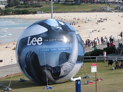 Largest Inflatable Beach ball Bondi