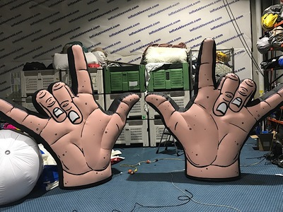 Dune Rats Inflatable stage prop Hands