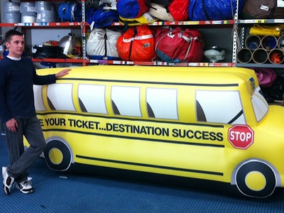 Inflatable Yellow school bus