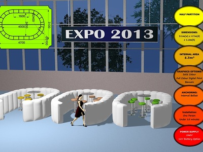 Inflatable Exhibition partitions