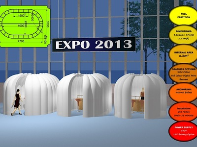 Inflatable Partition  cubicles