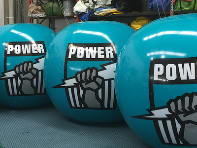 AFL Adelaide Power Inflatable Crowd Balls Promotion