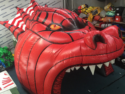St George Inflatable Dragon Field Entrance NRL